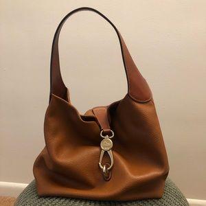Dooney & Bourke Belvedere Logo Lock Shoulder Bag